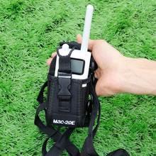 Abbree MSC-20E Walkie Talkie Nylon Case Cover Handsfree Holder for Xiaomi Mijia Walkie Talkie Two-way Radio Ham Portable