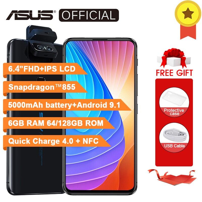 Global Version ASUS Zenfone 6 Qualcomm Snapdragon 855 6GB RAM 64GB ROM  Phone 48+13MP Fingerprint 5000mAh 6 4 inch 4G Smartphone-in Cellphones from
