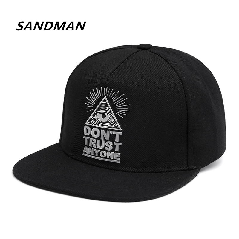Cotton Snapback 3d God Eyes Plastic Patch Mens Flat Brim Baseball Cap Hip Hop Hat And Cap For Men And Women Bone charmdemon 2016 embroidery cotton baseball cap boys girls snapback hip hop flat hat jy27