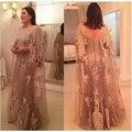 Chegada nova Apliques de Renda Mãe dos Vestidos de Noiva Dubai Madrinha Vestido de Festa para o Casamento Vestidos De Festa Custom Made