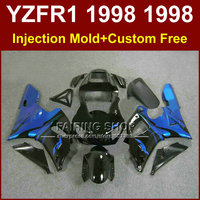 Perfect blue black motorcycle fairings kit for YAMAHA 1998 1999 YZFR1 YZF R1 YZF1000 98 99 aftermarket fairing parts R1 F6RB