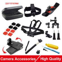Action Camera Accessories Set for Gopro Collection Bag Chest Strap Head Belt Monopod 360 Rotation Tripod Mount Hero SJCAM SJ4000