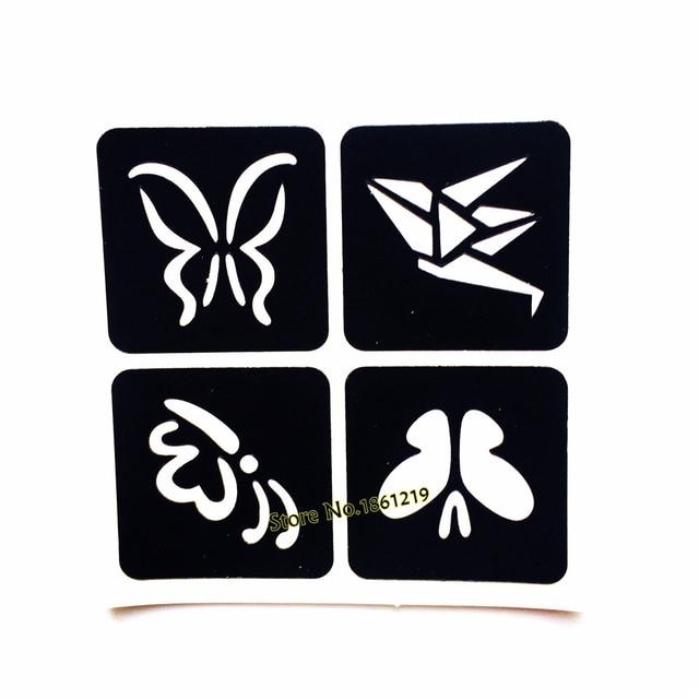 1PC 4 Designs Butterfly Henna Tattoo Stencils Fake Waterproof - tattoo template
