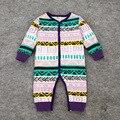 Del bebé del algodón del traje De marca nuevos mamelucos del bebé Unisex niñas niños bebés De tela mono infantil para niño Ropa De Bebe moda vintage