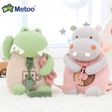 Plush Fyllda Animal Cartoon Bags Barn Doll Plush Ryggsäck Toy Kids Shoulder Bag för dagis Girl Girl Ryggsäck Metoo Doll
