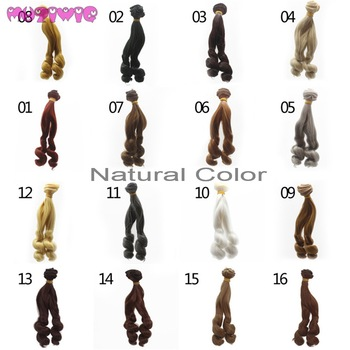 1 Piece 15*100cm Small Screw Curly Doll Wig Hair Wefts Extensions for BJD/Blyth/American Dolls DIY Accessories new arrival 1 piece 100cm long wigs wave small curly long wig hair tree for 1 3 1 4 1 6 bjd diy dolls hair