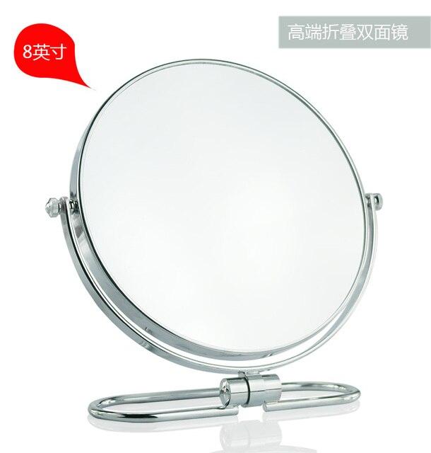 8 pulgadas Plegable espejo de maquillaje escritorio 10X de aumento de Doble cara espejo de metal espejo Cosmético Portable del recorrido del colgante de Pared