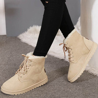QUANZIXUAN Women Boots 2018 Ankle Boots Women Winter Shoes Warm Fur Snow Boots Female Winter Boots Fashion Woman Shoes