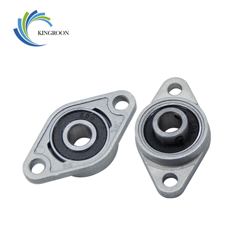 2pcs Horizontal KFL08 Bearing Bracket For Trapezoidal T8 Lead Screw 3D Printers Parts Mounted Stand Part Stainless Steel Support