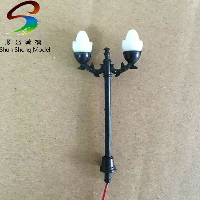 HO scale street light Diorama traffic signal light model for architectural building material choice