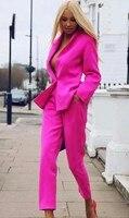 Women's Business Suits Formal female Office Work Wear 2 Piece Sets Slim Uniform Blazer Custom Made