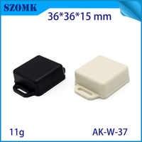 6  pieces plastic small junction box  electronic case 36*36*15 mm abs plastic enclosures for electronics diy case housing szomk