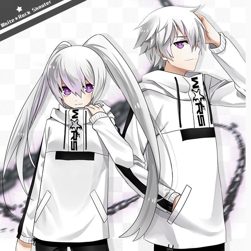 Japonais Anime Cosplay Costumes Sweats Capuches Sport Manteau Haut de Sport à manches Longues NOIR ROCHE TIREUR SRLB Vêtements Cadeau