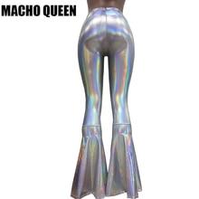 fa69417377445c vintage Leggings Clothing Women Silver Holographic Wide Leg Flare Bell  Bottom Pants Leggings Rave Festival Clothes