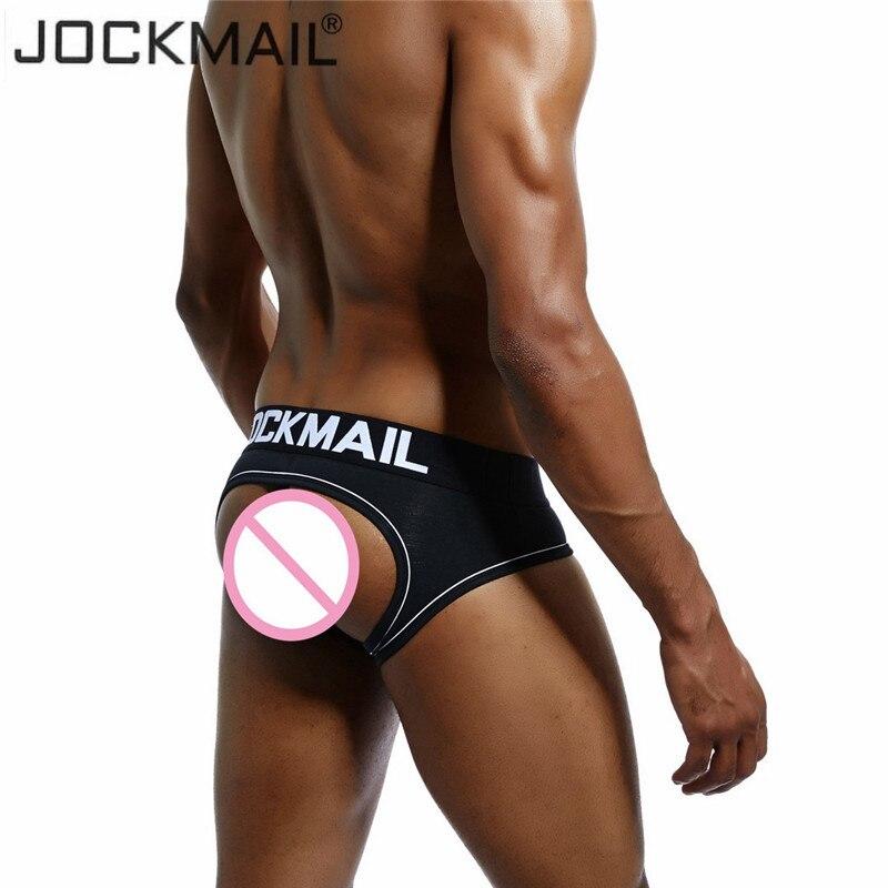 fc9d2d63d27 JOCKMAIL Brand Sexy Men Underwear Briefs open back calzoncillos hombre slip men  thong string cuecas Gay Underwear male panties