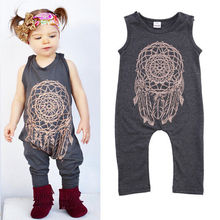 Fashion Infant Baby Girls Kids Cartoon Printed One-Piece Romper Jumpsuit Outfit Clothes