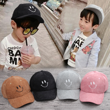 autumn winter Cap 2017 new Sale boy girl caps Unisex Snapback Adjustable Baseball Cap Smile Hip Hop hat,casquette,gorras
