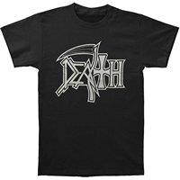 GILDAN Short Sleeve Mens Formal Shirts Death Men's New Logo Silver On Black T-shirt Black