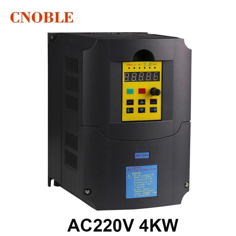 Inverseur de fréquence 220 v 4KW 1 entrée de Phase et convertisseur de fréquence de sortie 220 v 3 phases/moteur à courant alternatif/entraînement ca/VSD/VFD/50 HZ