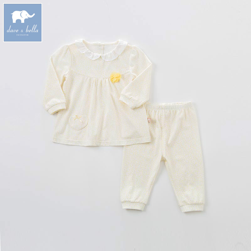 DB7572 dave bella spring baby girls clothing sets kids print suit children toddler outfits infant high quality clothes db7386 dave bella spring baby boys clothing sets panda print toddler children suit high quality infant outfits