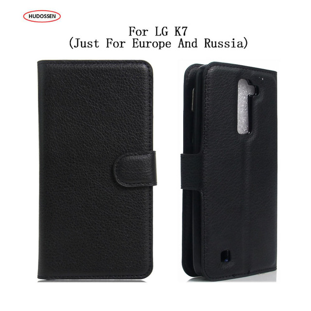 new concept 0e747 1a6c8 US $3.94 21% OFF|HUDOSSEN For LG K7 LTE 4G X210ds X210 Protective Flip  Cover Case For LG K7 Cell Phone Leather Cover 5.0