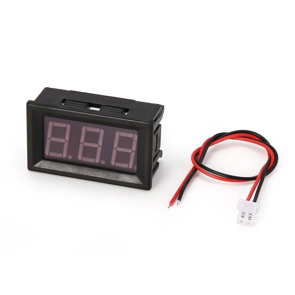 DC 2.5-30V 2-Wire LED Digital Display Panel Voltmeter Electric Voltage Meter <font><b>Volt</b></font> Tester for Auto Car Motorcycle <font><b>Battery</b></font> Cart image