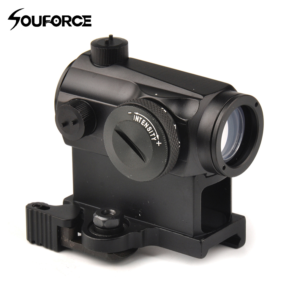 Mini 1X24 Rifescope Sight Illuminated Sniper Red Green Dot Sight With Quick Release Red Dot Scope