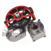 1/10 RC Car Truck FULL METAL Assembled Transmission Gearbox Tranny With Straight Gear for RC AXIAL SCX10 D90