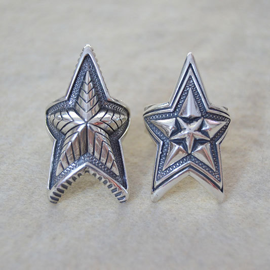 Retro Thai Silver Pentagonal Star Rings Forefinger Adjustable 925 Sterling Silver Rings Free Shipping