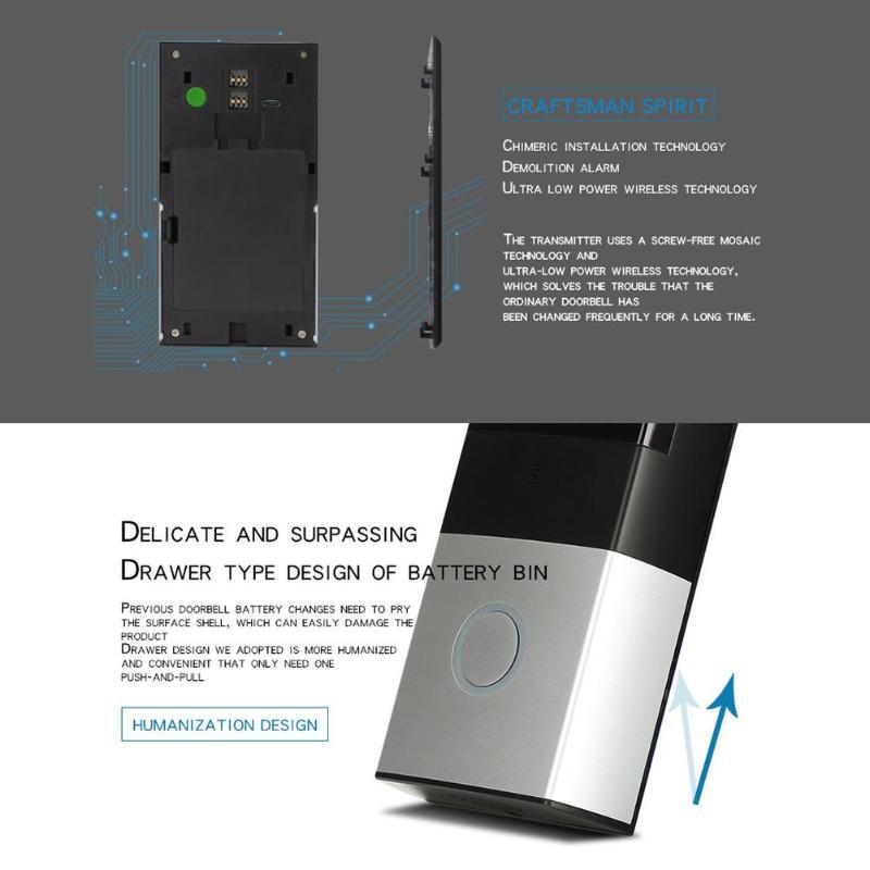 Smart Wireless Remote Visual Doorbell Ring WiFi Visual IR Night Vision Phone Intercom Camera Doorbell