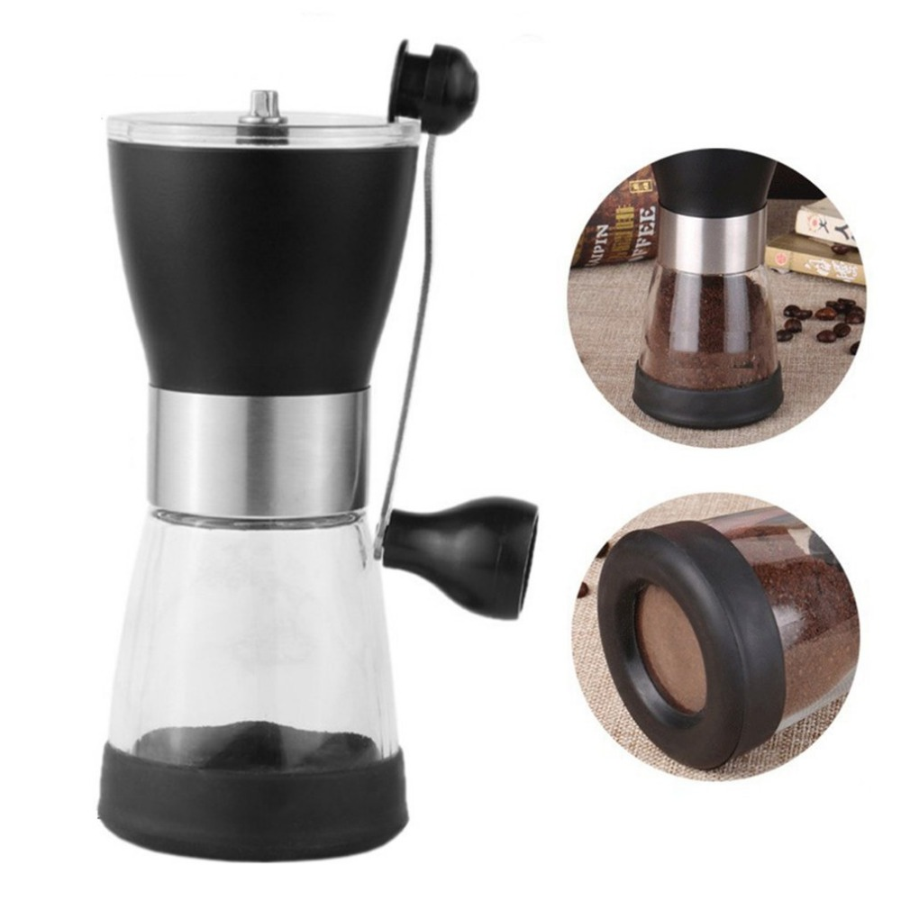 350ml Hand Grinder Manual Coffee Grinder Plastic Coffee Machine Hand Coffee Bean Grinder Ceramic Grinding Core Washable Grinder manual coffee grinder ceramic coffee bean grinder grinding machine jade white ceramic handset mill