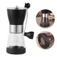 350ml Hand Grinder Manual Coffee Grinder Plastic Coffee Machine Hand Coffee Bean Grinder Ceramic Grinding Core Washable Grinder