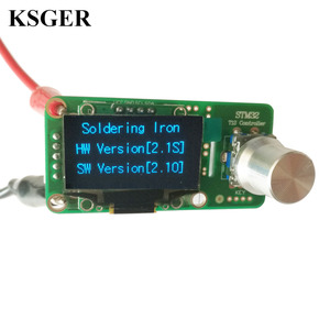 Image 3 - Паяльная станция KSGER T12 STM32 V2.1S OLED, наборы «сделай сам», наконечники паяльника, сварочные инструменты, контроллеры FX9501, алюминиевая ручка