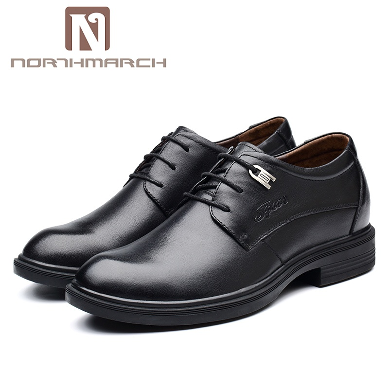 NORTHMARCH Brand Men Dress Shoes Fashion Comfortable Business Shoes Men Genuine Leather Formal Shoes Lace-Up Male Wedding Shoes цена 2017
