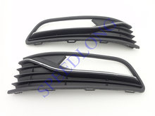 2 Pcs/Pair RH and LH front bumper fog light lamp grille covers hoods for VW VOLKSWAGEN POLO 2014-2016 HATCHBACK