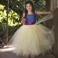 Inspirado Vestido Tutu Menina Princesa Branca de Neve Meninas vestido para a Festa de Aniversário Do Bebê Meninas Miúdos Traje Cosplay PT277