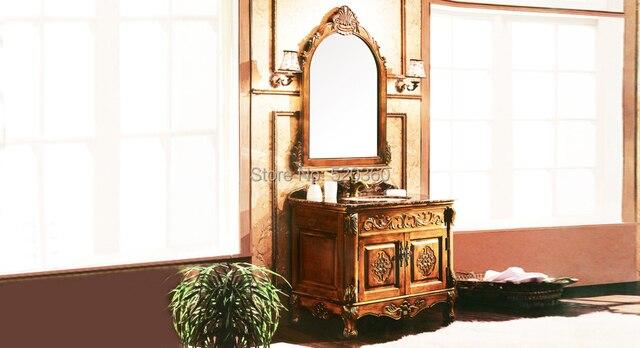 Bagno Marrone Scuro : Arancione caffè quercia marrone scuro cabinet in marmo e specchio