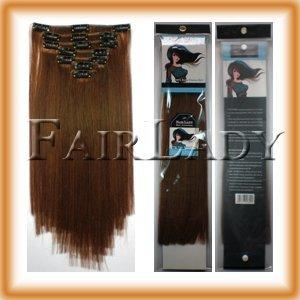 "20"" 22"" 24"" Clip In Remy Human Hair Extensions 105g,8pcs/set #10 Medium Golden Brown 10set/Lot"