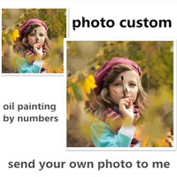 Photo Custom Diy Oil Painting By Numbers Photo Drawing Picture By Number Acrylic Painting Calligraphy Gift