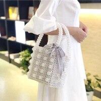 Дизайнерский бренд Кристалл женские Сумочка, расшитая бисером ручной работы сумка с жемчугом сумки невесты вечерняя сумка Топ-ручка сумки ...