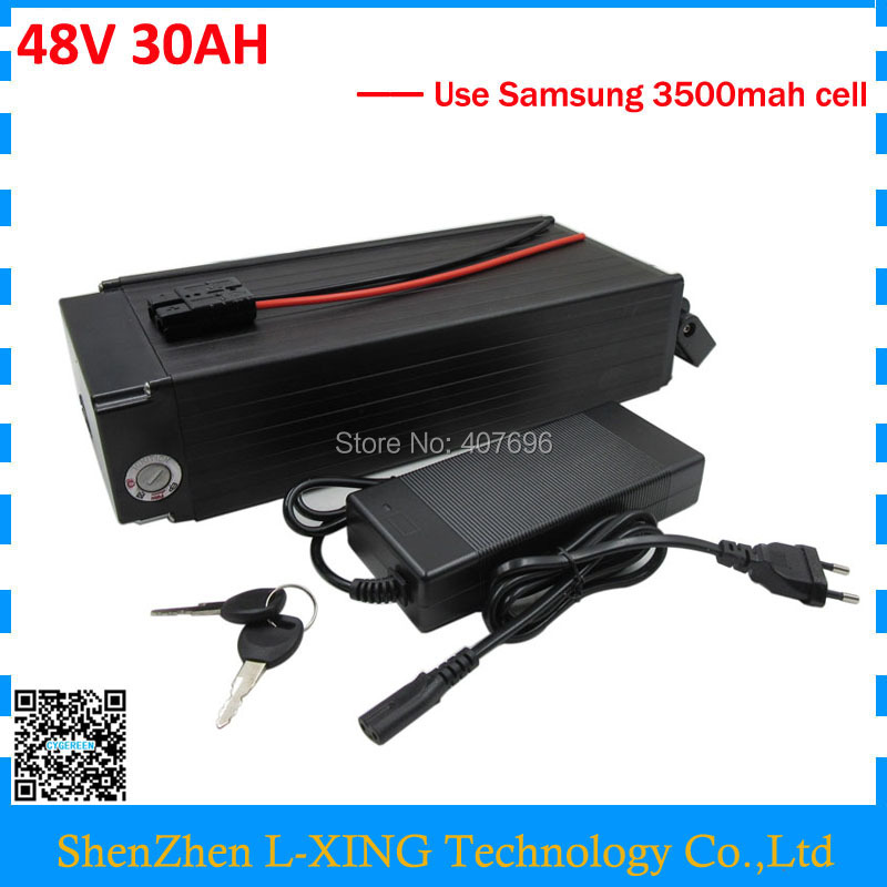 Free customs fee 48v 30ah lithium battery 1000W 48V 30AH rear rack battery use Samsung 18650 cell 30A BMS 54.6V 2A Charger free customs duty 1000w 48v ebike battery 48v 20ah lithium ion battery use panasonic 2900mah cell 30a bms with 54 6v 2a charger