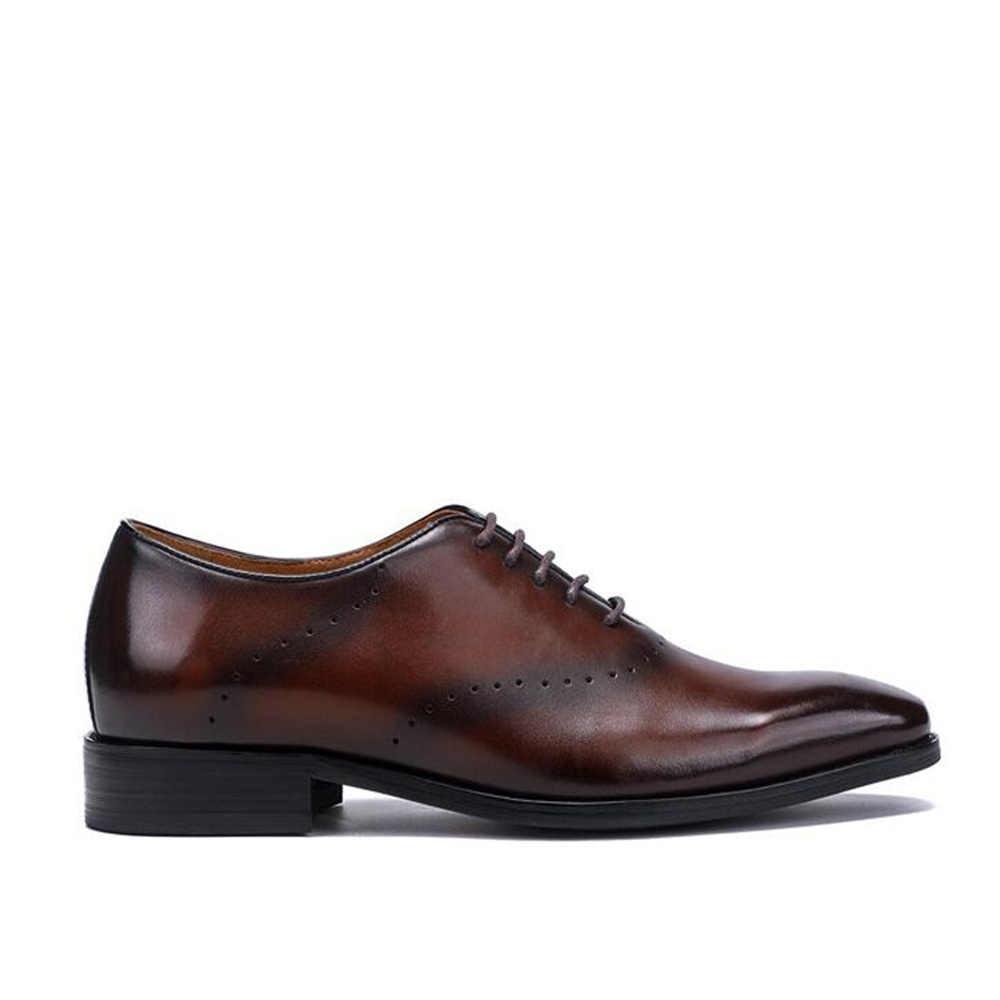 ... Sipriks Patina Leather Dark Brown Oxfords For Men Vintage Designer Dress  Shoes Grooms Wedding Party Shoes ... 85d3bafbfd15