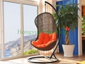 Outdoor hammock chairs with cushions and stand