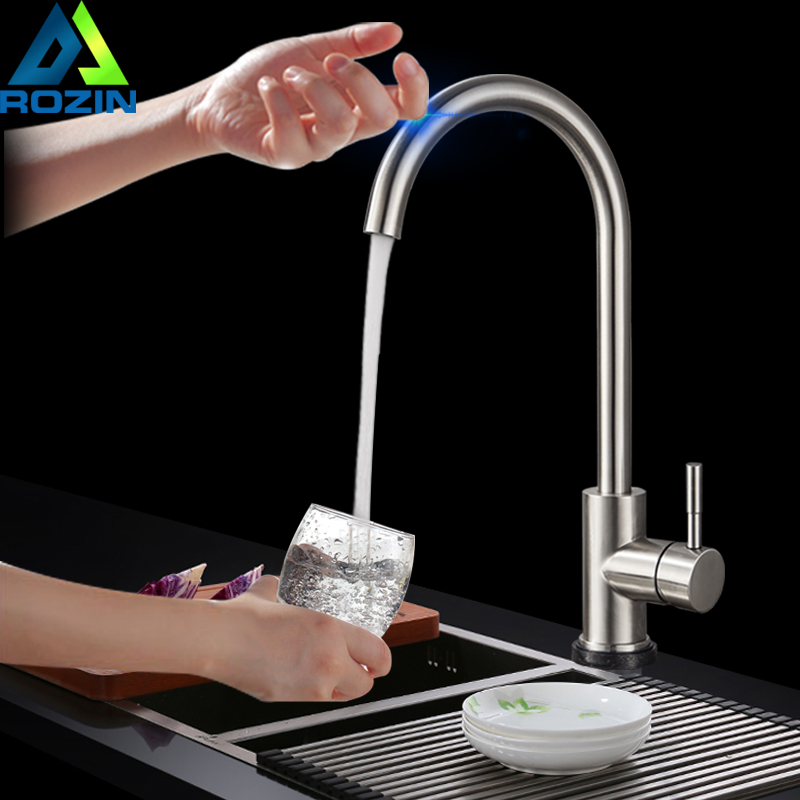купить SUS304 Stainless Steel Touch Kitchen Faucet 360 Rotate Touch Control Sensitive Faucet Mixer Tap Kitchen Touch Tap Lead-Free недорого