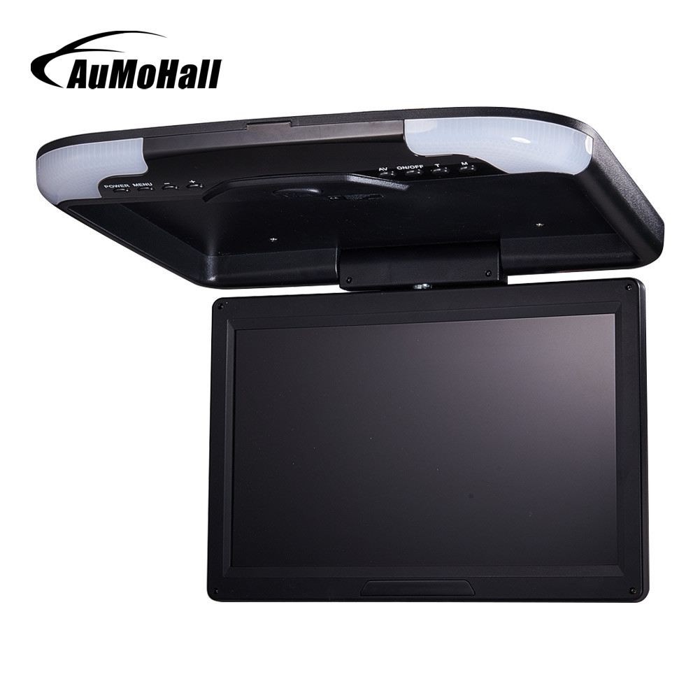 AuMoHall 13 inches Car Monitor LED Digital Screen Car Roof Mounted Monitor Car Ceiling Monitor Flip