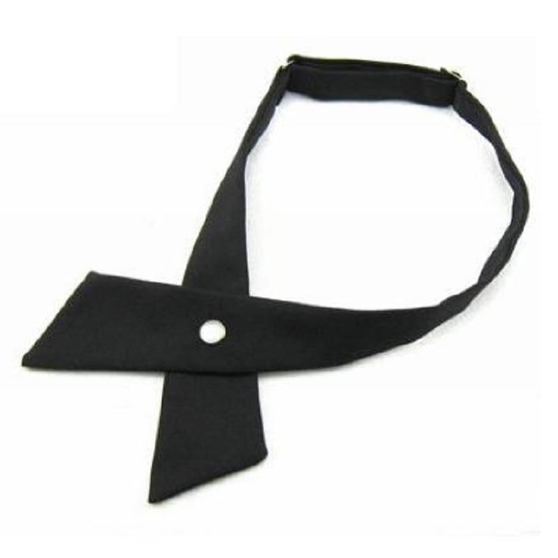 HOOYI 2019 Crossover Solid Color Black Butterfly Bow Tie Knot Bowtie Men's Necktie Women's Neck Ties Ascot Cravat