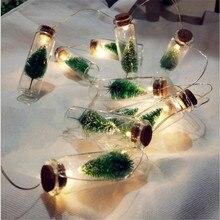 1 м 10 светодиодный светильник-гирлянда винтажная прозрачная стеклянная бутылка желаний светодиодный струнный Сказочный светильник s на батарейках для дома и сада Рождественский Декор