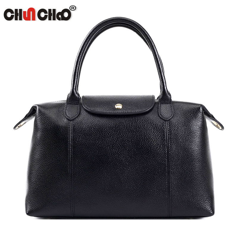 Genuine Leather Women Bucket Shoulder Bags Brand Cow Leather High Quality Totes Women Messenger Bags Crossbody