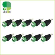 10pcs/lot DC Power Male Jack Plug Connector 5.5/2.1mm For CCTV Cameras