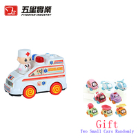 FS TOYS 1 PC 35303C Defenders of the city ambulance car vehicle with light and music toys for children children early baby gift